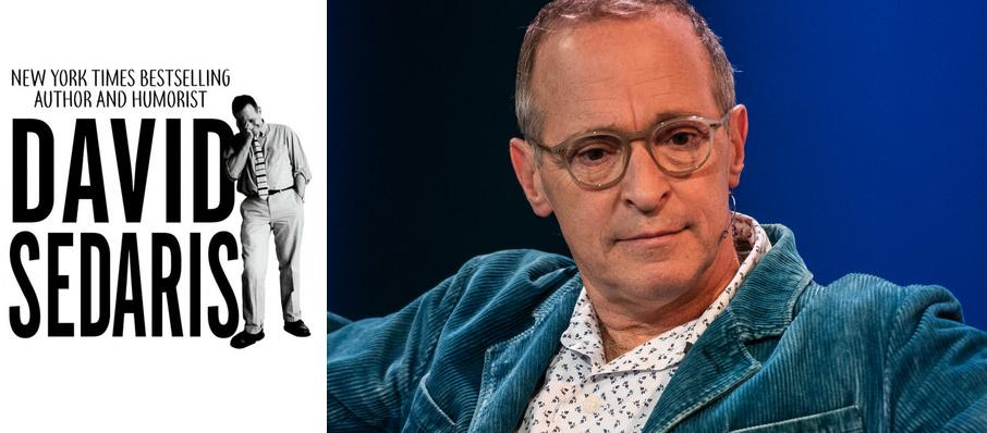 David Sedaris at War Memorial Opera House