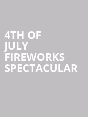 4th of July Fireworks Spectacular at Shoreline Amphitheatre