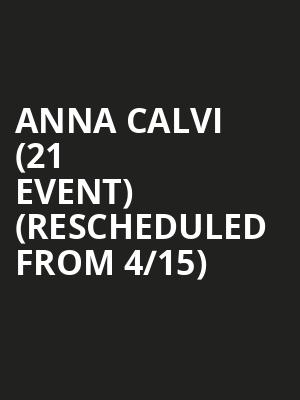 Anna Calvi (21+ Event) (Rescheduled from 4/15) at The Independent