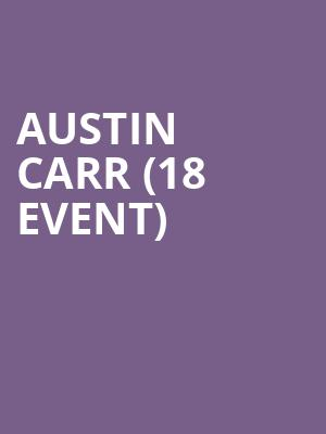 Austin Carr (18+ Event) at Cobbs Comedy Club