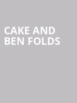Cake and Ben Folds at Shoreline Amphitheatre