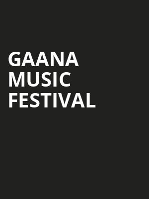 Gaana Music Festival at Shoreline Amphitheatre