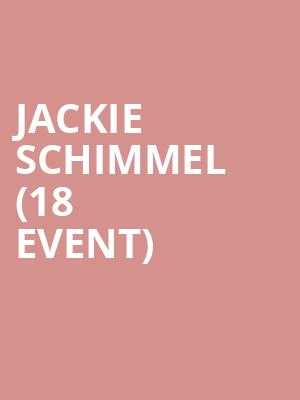 Jackie Schimmel (18+ Event) at Cobbs Comedy Club