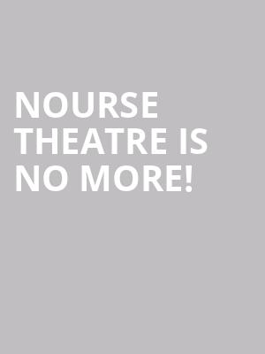 Nourse Theatre is no more