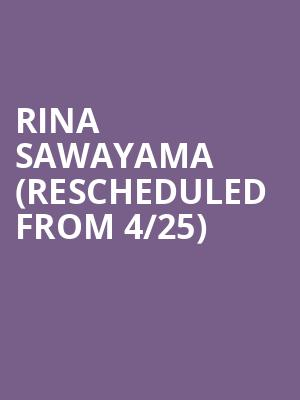 Rina Sawayama (Rescheduled from 4/25) at Great American Music Hall
