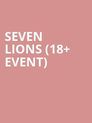 Seven Lions %2818%2B Event%29 at Bill Graham Civic Auditorium