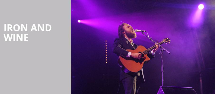 Iron and Wine, The Warfield, San Francisco