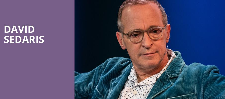 David Sedaris, War Memorial Opera House, San Francisco