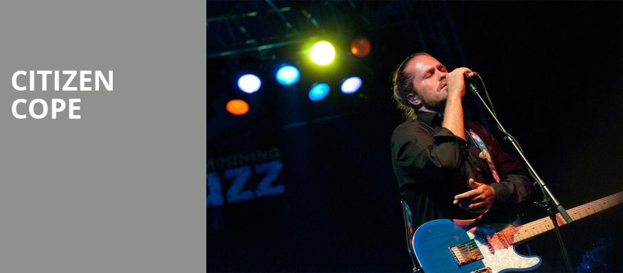 Citizen Cope, August Hall, San Francisco
