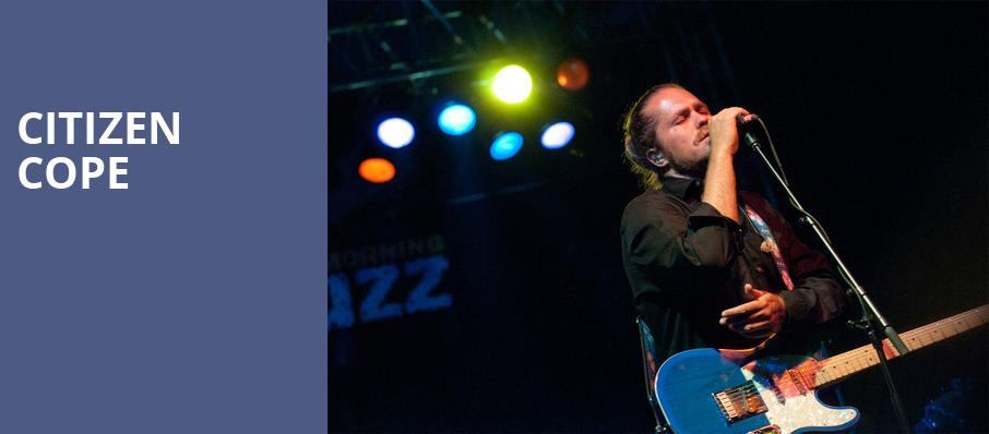 Citizen Cope, The Fillmore, San Francisco