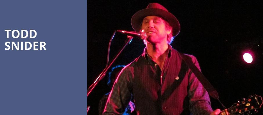 Todd Snider, Great American Music Hall, San Francisco