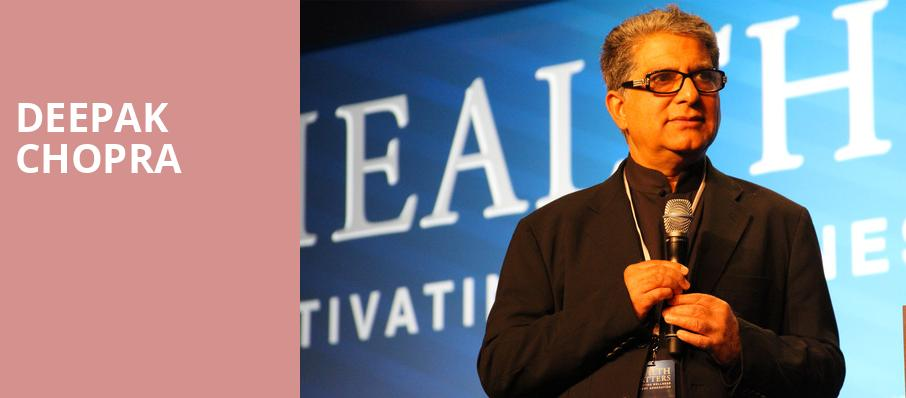 Deepak Chopra, Herbst Theater, San Francisco