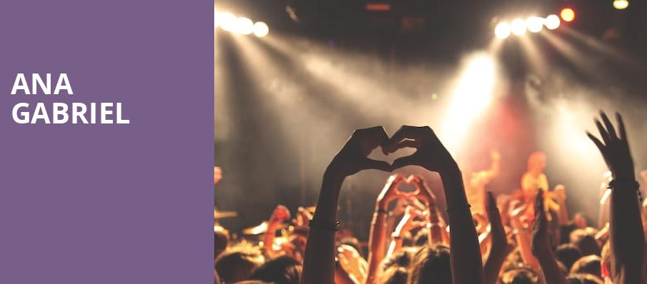 Ana Gabriel, Oracle Arena, San Francisco