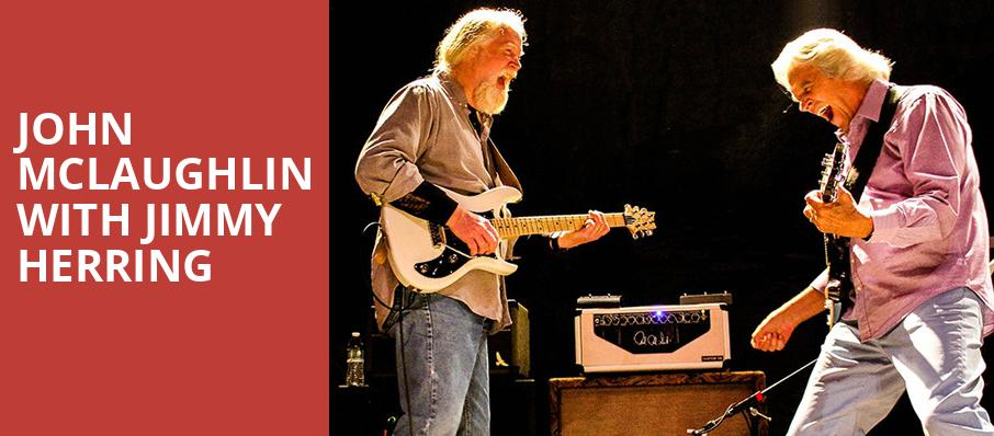 John McLaughlin with Jimmy Herring, The Warfield, San Francisco