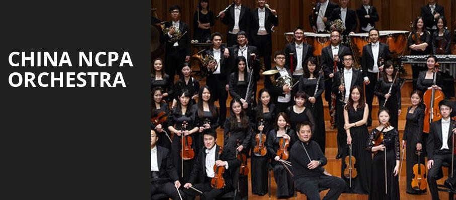 China NCPA Orchestra, Davies Symphony Hall, San Francisco