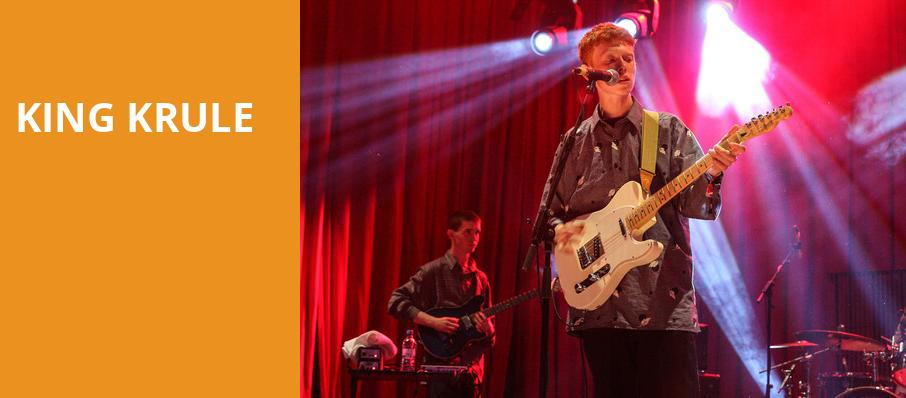 King Krule, Fox Theatre Oakland, San Francisco