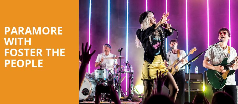 Paramore with Foster The People, Shoreline Amphitheatre, San Francisco