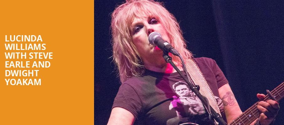 Lucinda Williams with Steve Earle and Dwight Yoakam, Nob Hill Masonic Center, San Francisco