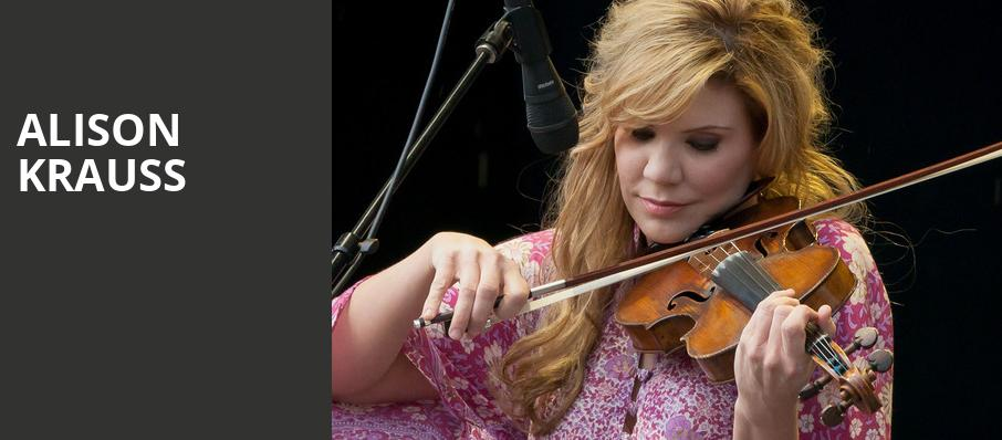 Alison Krauss, Ruth Finley Person Theater, San Francisco
