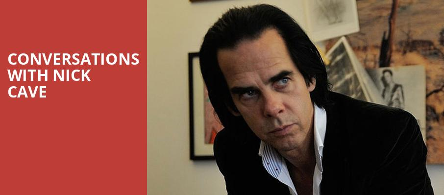 Conversations with Nick Cave, Davies Symphony Hall, San Francisco