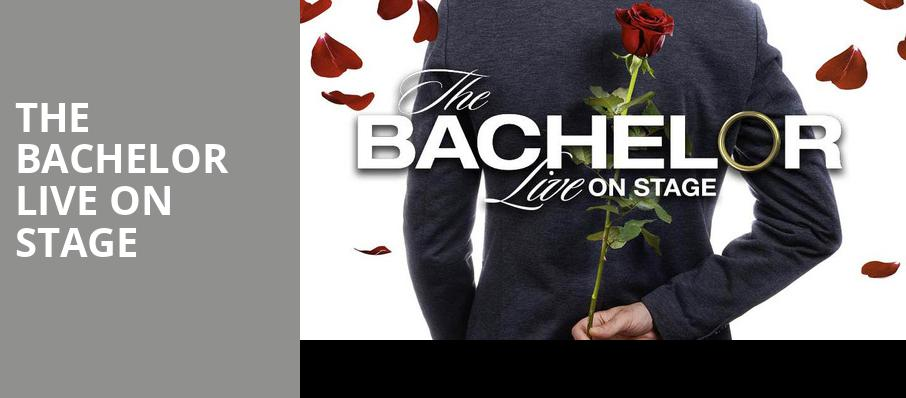 The Bachelor Live On Stage, Ruth Finley Person Theater, San Francisco