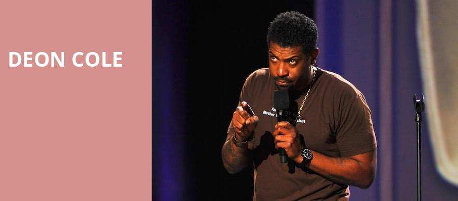 Deon Cole, Cobbs Comedy Club, San Francisco