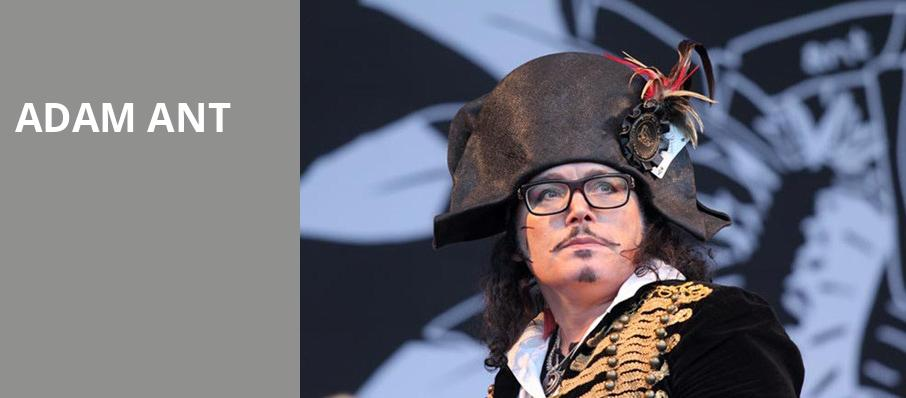 Adam Ant, Nob Hill Masonic Center, San Francisco
