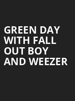 Green Day with Fall Out Boy and Weezer, Oracle Park, San Francisco